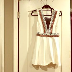White beaded dress size small